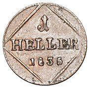 1 Heller - Ludwig I. – reverse