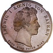 1 Conventionsthaler - Ludwig I (Customs Union; Copper pattern strike) – obverse