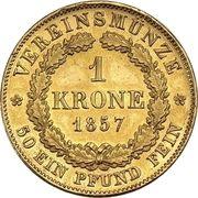 1 Krone - Maximilian II. – reverse