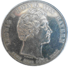 1 Conventionsthaler - Ludwig I (Geschichtstaler; Prince Otto) – obverse
