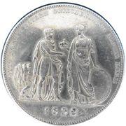 1 Conventionsthaler - Ludwig I (Geschichtstaler; Prince Otto) – reverse