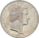 1 Conventionsthaler - Ludwig I. (Geschichtstaler; Founding of Theresien Order) – obverse