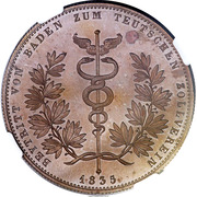 1 Conventionsthaler - Ludwig I (Customs Union; Copper pattern strike) – reverse