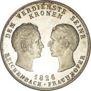 1 Conventionsthaler - Ludwig I (Geschichtstaler; Reichenbach and Fraunhofer) – reverse