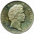 1 Conventionsthaler - Ludwig I (Geschichtstaler; Treaty Signing) – obverse