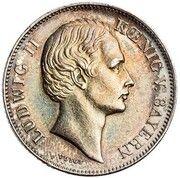 ½ Gulden - Ludwig II – obverse