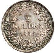 ½ Gulden - Ludwig II – reverse
