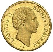 1 Ducat - Ludwig II (Geschenk-Dukat) – obverse