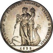 1 Conventionsthaler - Ludwig I (Geschichtstaler; Customs Union) – reverse