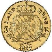 3 Kreuzer - Ludwig I (Gold Pattern) – reverse