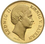 ½ Gulden - Ludwig II (Gold Pattern) – obverse