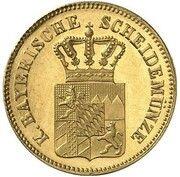 6 Kreuzer - Ludwig II (Gold Pattern) – obverse