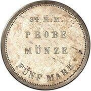 5 Mark - Ludwig II (Pattern) – reverse