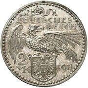 2 Mark - Ludwig III (Pattern) – reverse