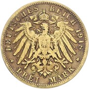 3 Mark - Ludwig III (Golden Wedding Anniversary - Pattern) – reverse