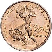 20 Mark - Ludwig III (Pattern) – reverse