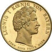 1 Conventionsthaler - Ludwig I (Geschichtstaler; Treaty Signing - Gold Pattern) – obverse