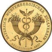 1 Conventionsthaler - Ludwig I (Geschichtstaler; Treaty Signing - Gold Pattern) – reverse