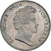 1 Conventionsthaler - Ludwig I (Geschichtstaler; Treaty Signing - Pattern) – obverse