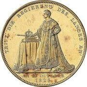 1 Conventionsthaler - Ludwig I (Geschichtstaler) – reverse