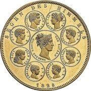 1 Conventionsthaler - Ludwig I (Geschichtstaler; Blessing of Heaven - Pattern) – reverse