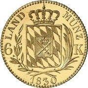 6 Kreuzer - Ludwig I (Pattern) – reverse