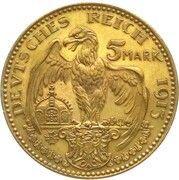 5 Mark - Ludwig III (Pattern) – reverse