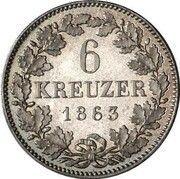 6 Kreuzer - Maximilian II – reverse