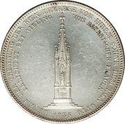 1 Conventionsthaler - Ludwig I (Geschichtstaler; Mother Monument) – reverse