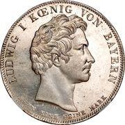 1 Conventionsthaler - Ludwig I (Geschichtstaler; King Maximilian Joseph monument) – obverse