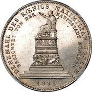 1 Conventionsthaler - Ludwig I (Geschichtstaler; King Maximilian Joseph monument) – reverse