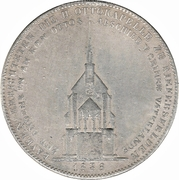 1 Conventionsthaler - Ludwig I (Geschichtstaler; Otto Chapel) – reverse