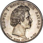1 Conventionsthaler - Ludwig I (Geschichtstaler; Benedictine Order) – obverse