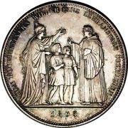 1 Conventionsthaler - Ludwig I (Geschichtstaler; Benedictine Order) – reverse