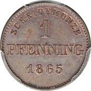 1 Pfenning - Maximilian II – reverse