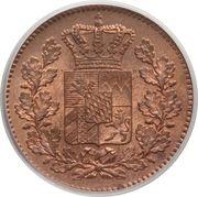 2 Pfenning - Maximilian II, Ludwig II – obverse