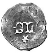 1 Pfennig - Stephan III and his son Ludwig VII (Ingolstadt mint,3rd type) – reverse