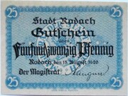 25 Pfennig (Rodach) – obverse