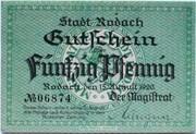 50 Pfennig (Rodach) – obverse