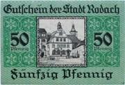 50 Pfennig (Rodach) – reverse