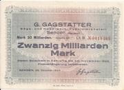 20,000,000,000 Mark (Senden; G. Gagstätter) – obverse