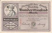 100,000 Mark (Bad Tölz) – obverse