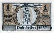 1 Mark (Solnhofen) – obverse