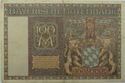 100 Mark (Bayerische Notenbank) – reverse