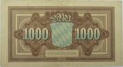 1000 Mark (Bayerische Notenbank) – reverse