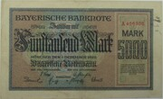5000 Mark (Bayerische Notenbank) – obverse