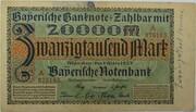 20,000 Mark (Bayerische Notenbank) – obverse