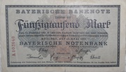 50,000 Mark (Bayerische Notenbank) – obverse