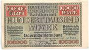 100,000 Mark (Bayerische Notenbank) – obverse