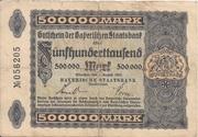 500,000 Mark (Bayerische Staatsbank) – obverse